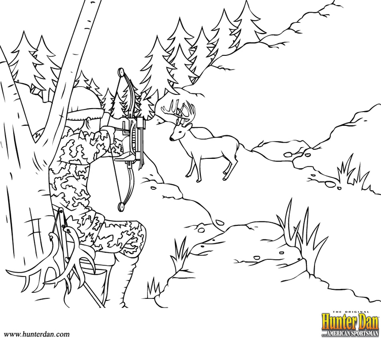 Hunting Bow And Arrow Coloring Pages Hunterdan.com